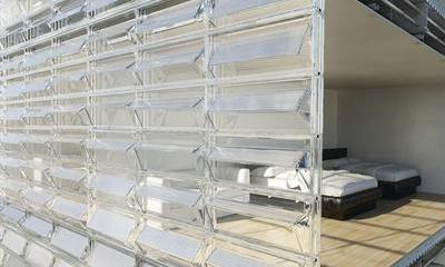 solar enclosure water reuse Facciata solare: recupera acqua, luce e calore
