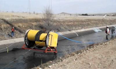 hydrovolts turbina grande canale Turbina Hydrivolts: energia dai canali di irrigazione